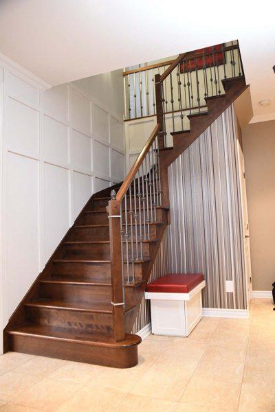 Cage d'escalier conçue par Signé Labelle