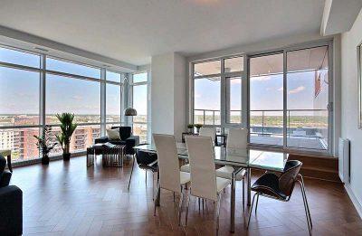 Penthouse moderne dont l'aménagement de l'espace a été fait par Signé Labelle