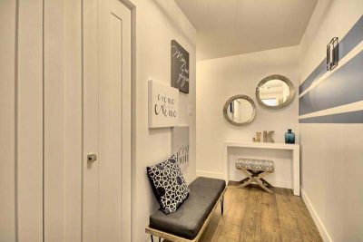 Couloir et hall d'entrée conçus et réalisés par l'équipe de designer d'intérieur de Signé Labelle