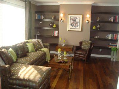 Salle de séjour stylisée par l'équipe de designers de Signé Labelle